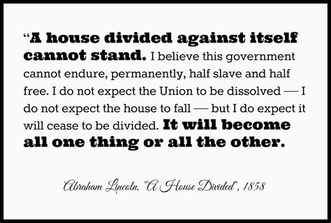 a house divided against itself adventures with jude abraham lincoln speaks a house divided