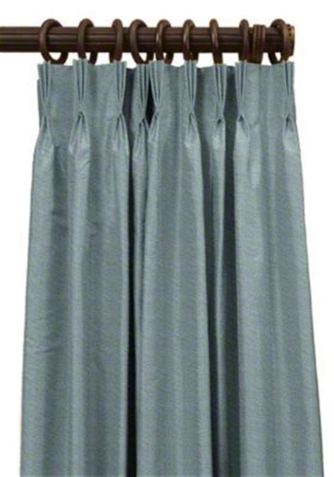 french pleated drapes custom french pleat silk drapes