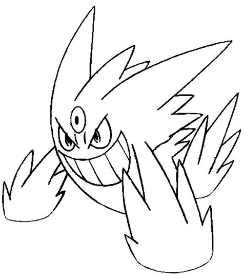pokemon coloring pages gengar free pokemon mega evolutions coloring pages