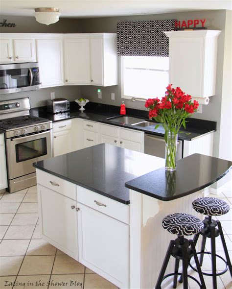 black and white kitchen remodel with painted cabinets diy