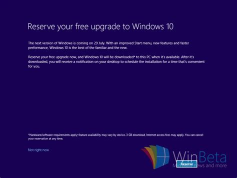 reserve your free windows 10 windows 10 free upgrade being offered during new