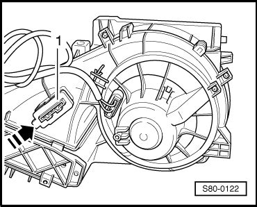 how to replace heater resistor skoda fabia skoda workshop manuals gt octavia mk2 gt heating ventilation air conditioning system gt heating