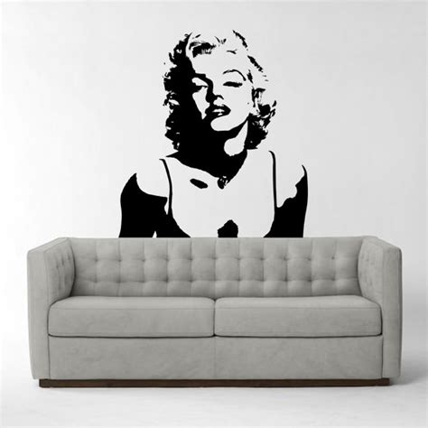 wall stickers marilyn marilyn vinyl wall sticker iconic wall sticker wall