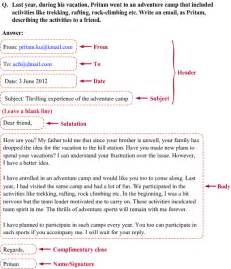what is the Format of writing report letter email etc in