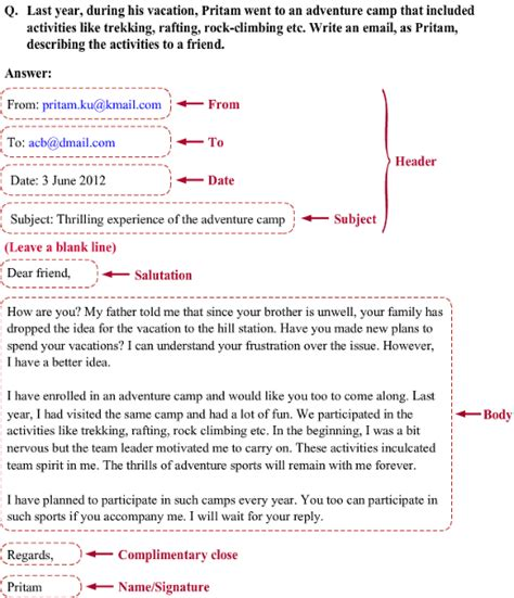 layout of email writing what is the format of writing report letter email