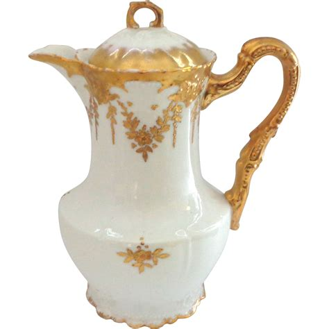 Limoges Ls Antique by Ageless Antique Limoges Chocolate Pot With Raised Gold