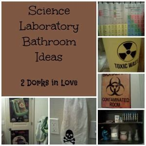 science themed bathroom she blinded me with science laboratory bathroom