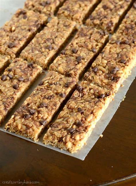 homemade  bake granola bars