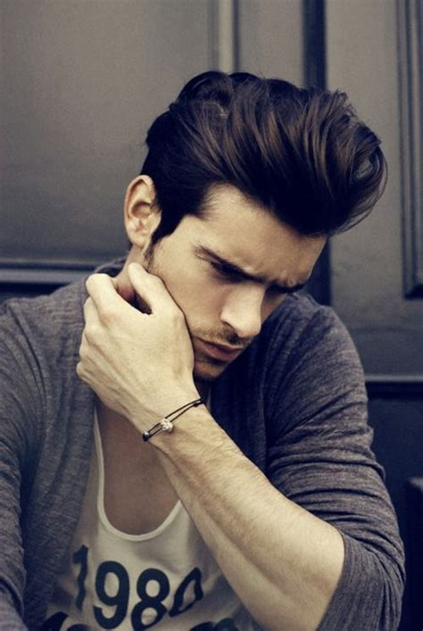 long pushed back hair short sides best hair color and hairstyle ideas for men