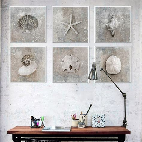 list manufacturers of rustic home decor buy rustic home aliexpress com buy 6 grey vintage sea shell photo