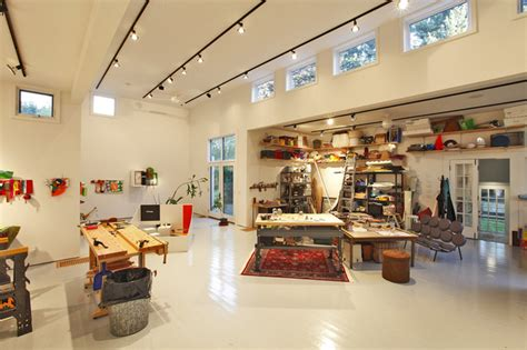 artist studio interior view modern home office