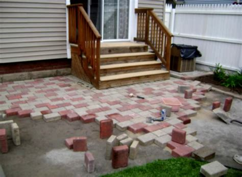Home Landscaping Paver Patio Designs Diy How To Make How To Make A Cheap Patio