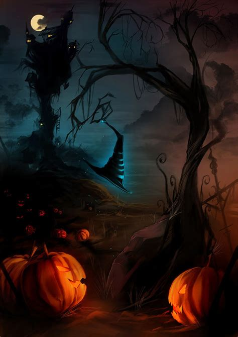 halloween themed pictures 20 superb exles of halloween themed digital art psdfan