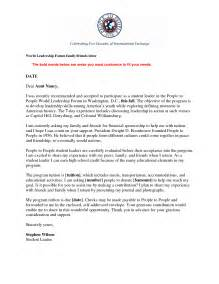 leadership cover letter exle recommendation letter for leadership skills re mendation