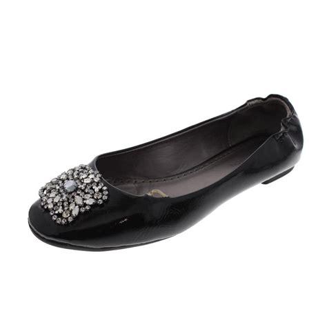 adrienne vittadini flat shoes adrienne vittadini sapphire black patent rhinestone ballet