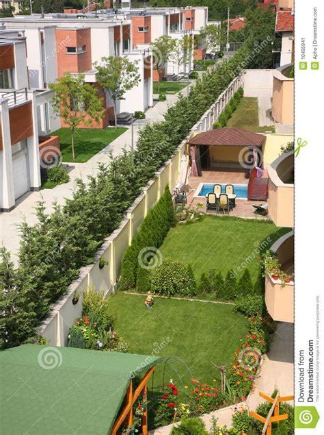 sunny backyard sunny backyard garden stock image image 10495941