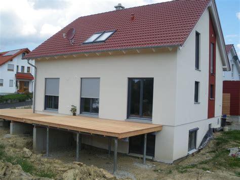 Terrasse 1 Meter Hoch by Unser Bautagebuch