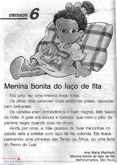 Jardim da Tia Di♥: Menina Bonita do Laço de Fita