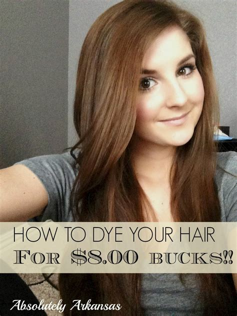 co dying your own hair at home for eight bucks