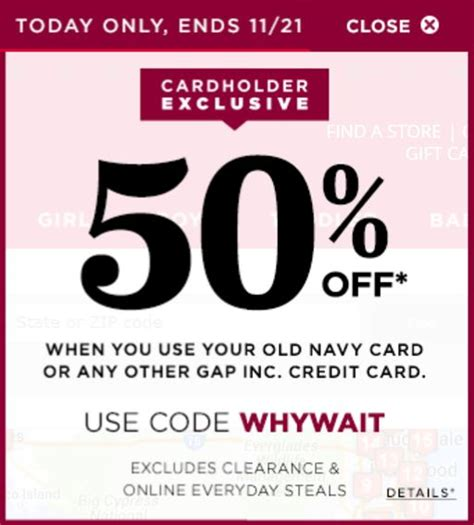 old navy coupons with credit card wow today only 50 off all jeans old navy oldnavy