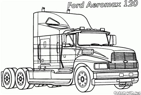 jet truck coloring page dibujo para colorear renault magnum