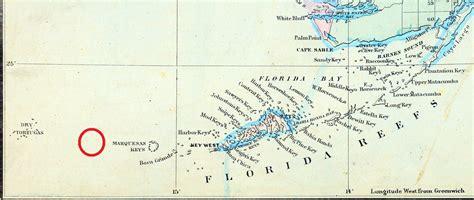 shipwreck location shipwreck of the atocha the florida memory