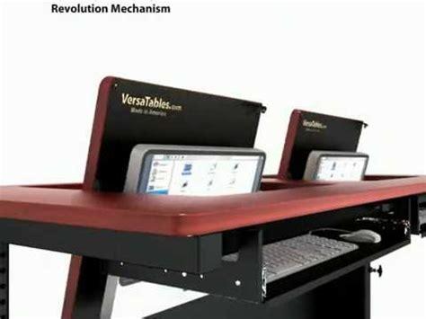 hidden computer monitor desk the revolution table hidden monitor classroom desk youtube