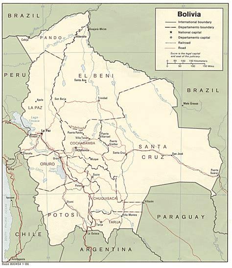 map of bolivia free bolivia maps