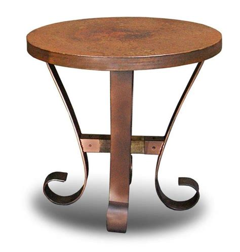 hammered copper table l copper top occasional table set hammered copper tables