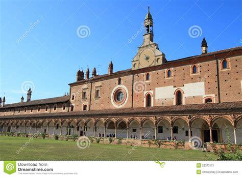 stazione certosa di pavia certosa di pavia monastery italy editorial