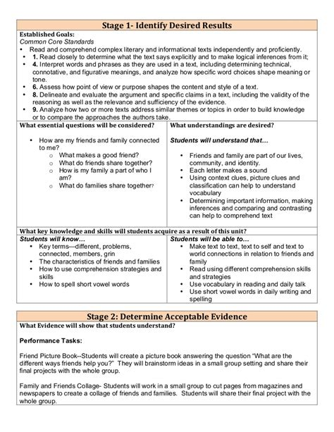 lesson plan template for differentiated differentiated lesson plan 1