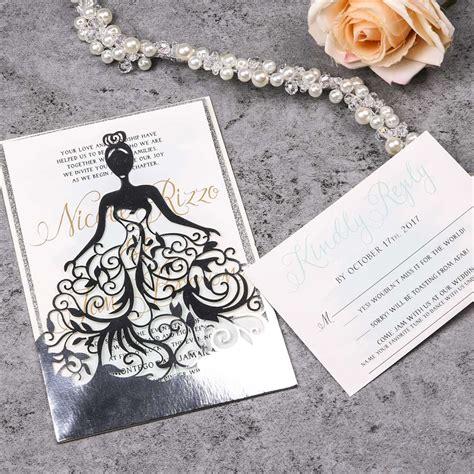 elegante invitacion para boda wpl0041 en papel espejo wpl0041f 1 20 mayoreo de elegante invitacion de vestido de xv wplv en papel espejo wplvf 1 20 mayoreo de
