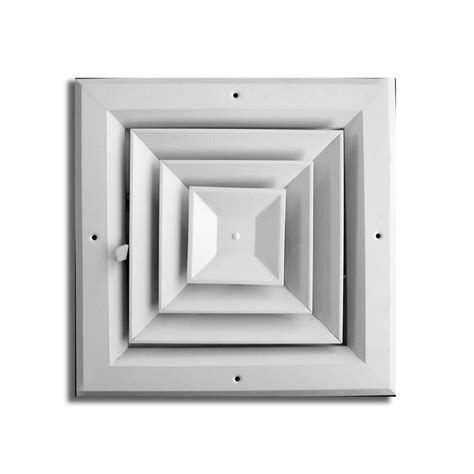 truaire 8 in x 8 in 4 way square ceiling diffuser ha504