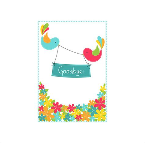farewell card template printable 13 farewell card templates psd ai free premium