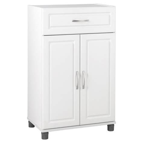 White 2 Door Storage Cabinet Kendall 24 Quot 1 Drawer 2 Door Base Storage Cabinet White Systembuild Target