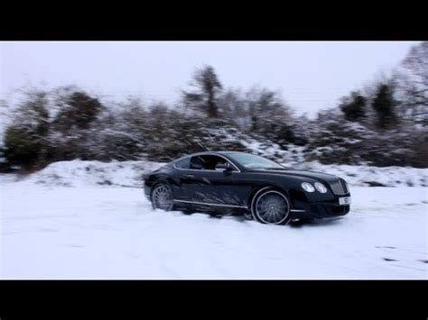 bentley snow bentley continental gt speed snow marlow cars youtube