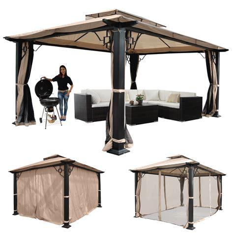 pavillon alu pergola mira garten pavillon 12cm luxus alu gestell mit