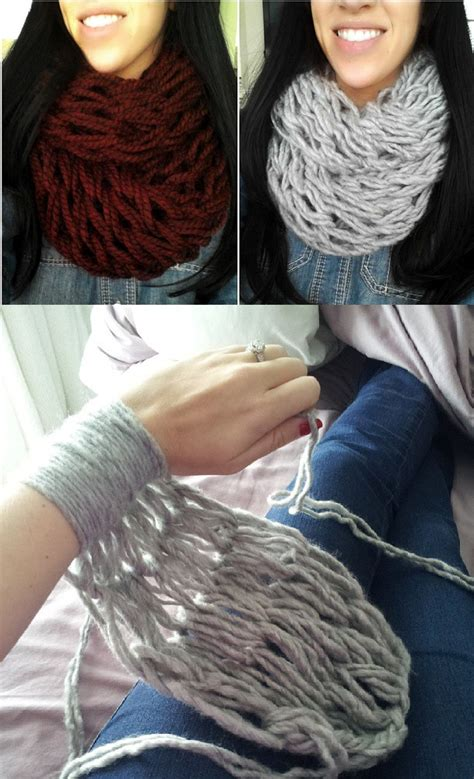 how does it take to knit a scarf arm knitting 30 minutes infinity scarf diy alldaychic