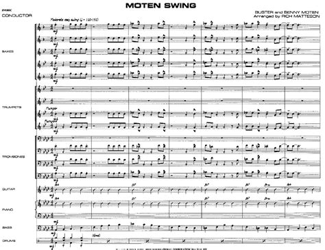 moten swing moten swing by matteson j w pepper sheet music