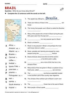 brazil activity brazil geography word search word brazil activity brazil geography word search word