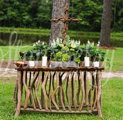 Rustic Table Ls Rustic Wedding Communion Table Ma Mikes Wedding Groomsmen Rustic Wedding Tables