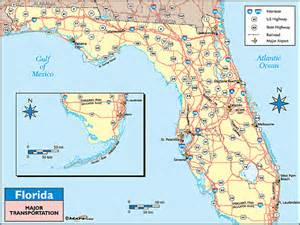 florida on world map florida transportation map by maps from maps