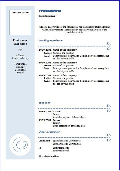 Cv Template Uk Word Doc Chronological Cv Template Blue Circles Resume Templates