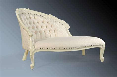 damask chaise luxury french antique white shabby chic damask chaise