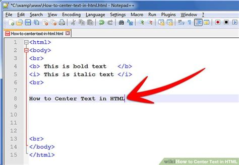 how to color text in html how to center text in html 9 steps with pictures wikihow