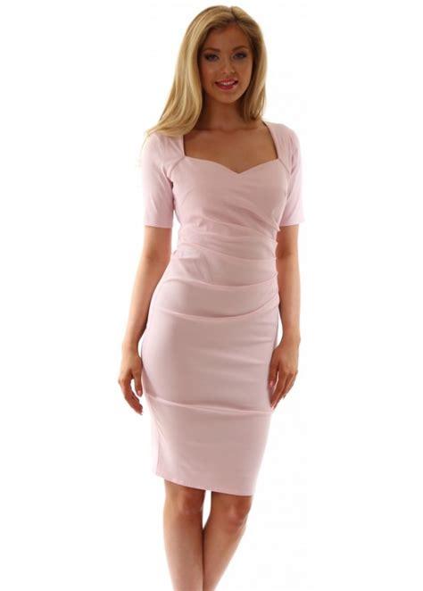 Fashions A30784 Midi Dress Pink pink pencil dress goddess midi dress in pink wear day or