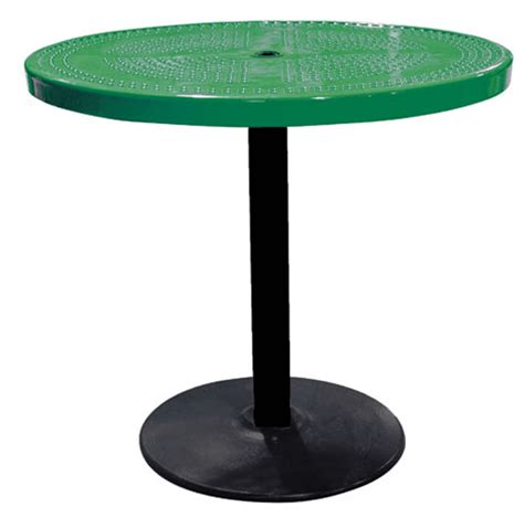 36 pedestal table 36 quot perforated pedestal table terracast