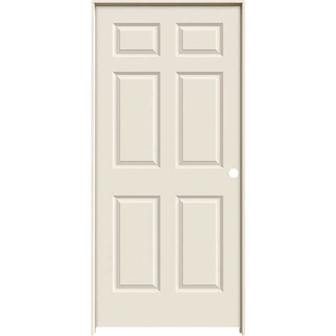 Single Door Closet Jeld Wen 36 In X 80 In Smooth 6 Panel Solid Primed Single Prehung Interior Door