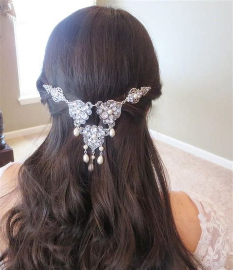 Wedding Hair Clip Vintage by Wedding Headpiece Bridal Hair Clip Swarovski