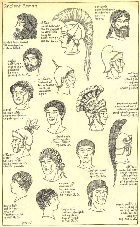 ancient roman men hairstyles chapter 4 ancient roman plate 2 3 school pinterest